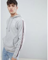 D-Struct - Side Taped Overhead Hoodie - Lyst