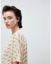 Weekday - All Over Print Choice T-shirt In Beige Print - Lyst