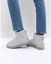 UGG - Classic Mini Ii Grey Violet Boots - Lyst