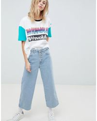 Wrangler - Boyfriend Jean With Exposed Buttons - Lyst