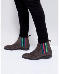 PS by Paul Smith - Gerald Suede Chelsea Boot In Grey - Lyst