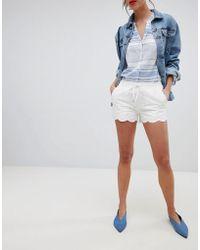 Esprit - Broderie Detail Shorts - Lyst