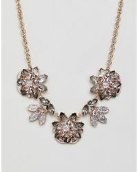 ALDO | Embellished Floral Statement Necklace | Lyst