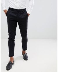 Lindbergh - Neppy Smart Trousers In Black - Lyst