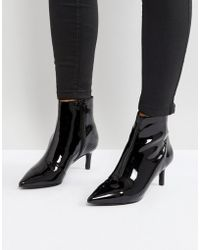 Faith | Patent Ankle Boot In Black | Lyst