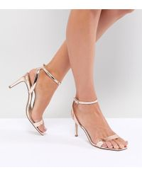 DESIGN Wide Fit Half Time barely there heeled sandals discount really ER7d7lWUBJ