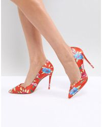 f6927109b613 Lyst - ALDO Edilania Orange Pointed Pumps in Orange