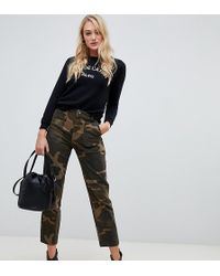 New Look - Camo Utility Trousers In Green - Lyst