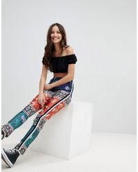 Glamorous | Floral Joggers With Side Stripe Detail | Lyst