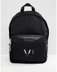 Versace Jeans - Backpack In Black With Logo - Lyst