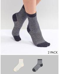 Pretty Polly - Metallic 2 Pack Socks - Lyst