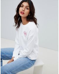 66ee9db1 Tommy Hilfiger - Tommy X Love Sweatshirt With Love Heart Embroidery - Lyst