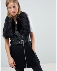 6d3b9a11f94f7 Muubaa Cursa Peplum Leather Jacket in Black - Lyst