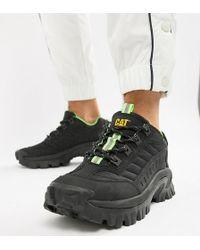 Caterpillar - Zapatillas de deporte negras con suela gruesa Intruder de CAT - Lyst