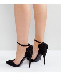 New Look - New Look Bow Back Pointed Heeled Shoes - Lyst