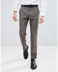 SELECTED - Slim Wedding Suit Trousers - Lyst