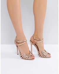 f2af21774aaa Asos Traffic Jam Wide Fit Wedges in Metallic - Lyst