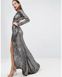 fe5190b078 ASOS - Asos Red Carpet Embellished Sequin Maxi Dress With High Low Hem -  Lyst