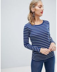 Esprit - Long Sleeved Striped Top - Lyst