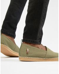 Polo Ralph Lauren - Barron Twill Espadrilles Multi Player In Green - Lyst