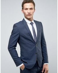 SELECTED - Slim Suit Tuxedo Jacket With Satin Lapel - Lyst