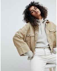 Weekday - Contrast Stitch Crop Jacket - Lyst