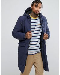 ASOS - Heavyweight Parka In Navy - Lyst