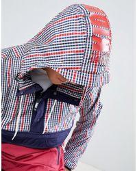 Christopher Shannon - Kidda By Overhead Jacket In Red Check - Lyst