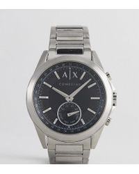 Armani Exchange - Connected Axt1006 Bracelet Hybrid Smart Watch In Silver - Lyst