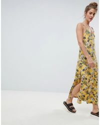 Pull&Bear - Cami Dress In Yellow Floral - Lyst