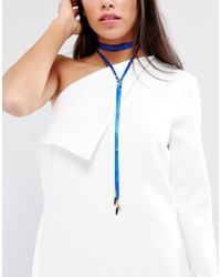 Vanessa Mooney - Vanesse Mooney Satin Chain Bolo Choker - Lyst