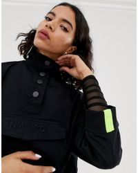 NA-KD - Button Up Anorak With Pocket In Black - Lyst