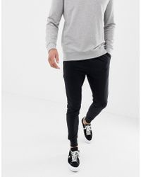 Another Influence - Basic Black Slim Fit Joggers - Lyst