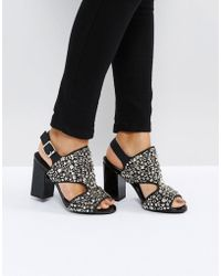 Jeffrey Campbell - Starr Black Studded Heeled Sandals - Lyst