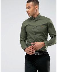 Farah - Slim Smart Poplin Shirt - Lyst