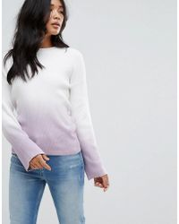 Warehouse - Fluted Sleeve Dip Dye Jumper - Lyst