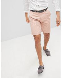 Solid - Slim Fit Chino Short In Pink - Lyst
