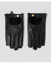 ASOS - Leather Plain Gloves With Touch Screen - Lyst