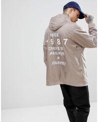 Napapijri | Aumo Jacket With Back Print In Gray | Lyst