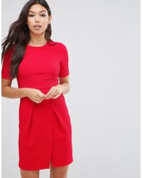 ASOS   Double Layer Textured Mini Wiggle Dress   Lyst