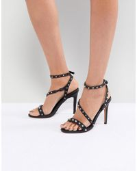 be5c980af7ad Lyst - ASOS Asos Tabloid Studded Chunky Sandals in Black