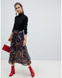 B.Young - Floral Midi Skirt - Lyst