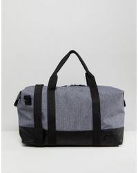ASOS - Holdall In Grey Texture - Lyst