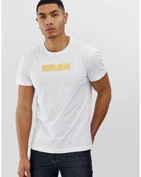 Versace Jeans Футболка С Золотистым Логотипом На Груди - Белый
