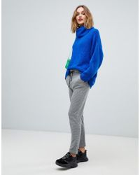 Esprit - Grid Print Soft Tailored Trousers - Lyst