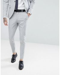 SELECTED - Super Skinny Suit Trousers - Lyst
