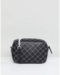 Mango - Quilted Contrast Cross Body Bag - Lyst