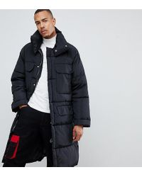 Sixth June - Oversized Puffer Coat In Black Exclusive To Asos - Lyst