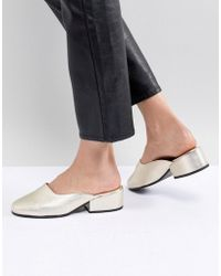 SELECTED - Femme Leather Metallic Mule - Lyst