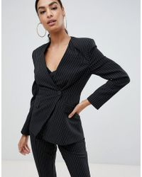 ASOS - Suit Blazer With Sharp Shoulders In Cut About Pinstripe - Lyst